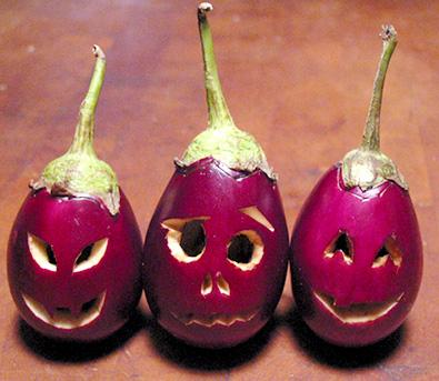 Eggplant-o-lantern